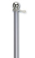 Flag Pole (Brushed Aluminum)
