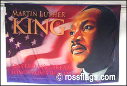 Flag honoring Dr. Martin Luther King